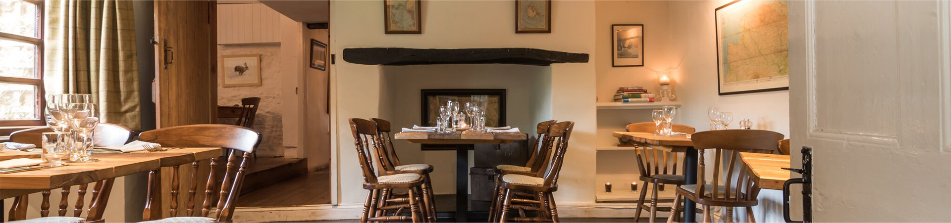 Lovely dining area with original wooden beams