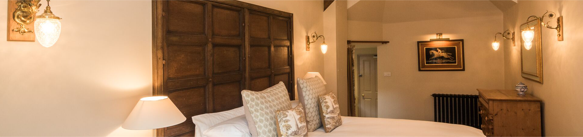 Lovely rustic country hotel room